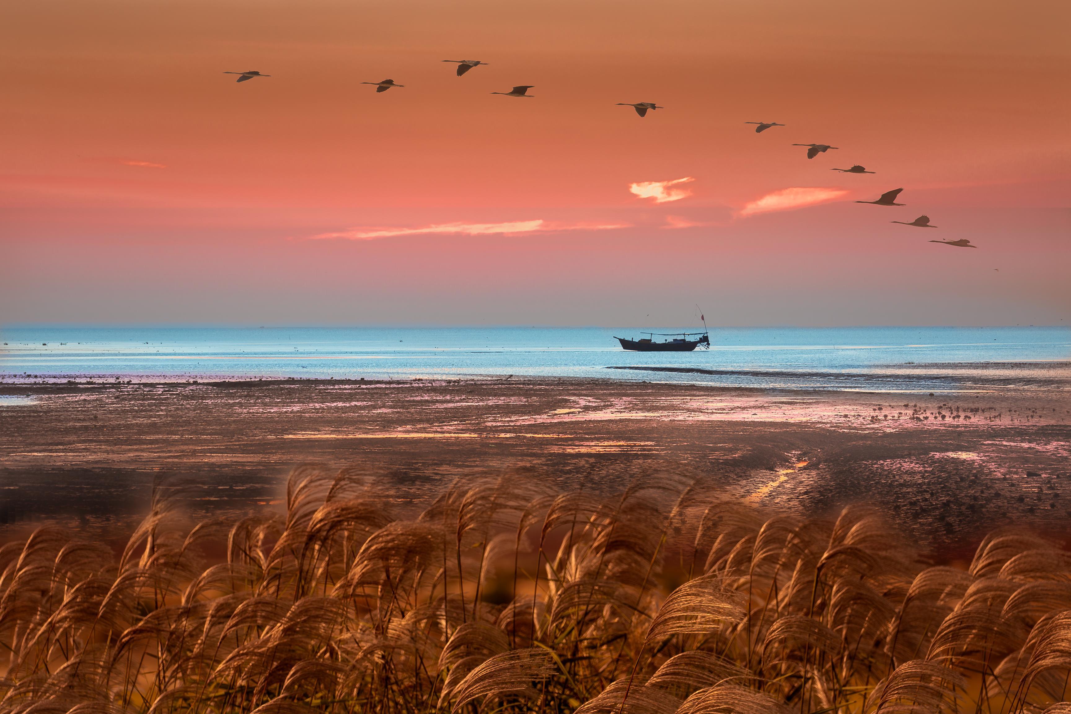 hk_c_7、怪客6 秋風輕撫,揉娑着黃河入海口這片濕地,孤影遠帆在這年輕的土地上靜靜的守候,期待着明天的啟航。.jpg